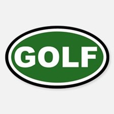 GOLF Green and Black Euro Oval Decal