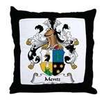 Mentz Family Crest Throw Pillow