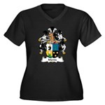 Mentz Family Crest Women's Plus Size V-Neck Dark T