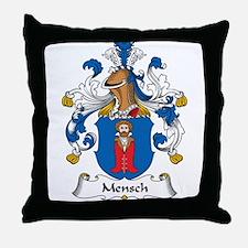 Mensch Family Crest Throw Pillow