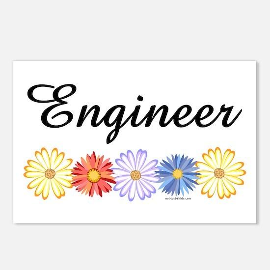 Engineer Asters Postcards (Package of 8)