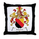 Mendel Family Crest Throw Pillow