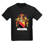 Mendel Family Crest Kids Dark T-Shirt