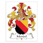 Mendel Family Crest Small Poster
