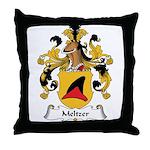 Meltzer Family Crest Throw Pillow
