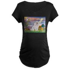Cloud Angel White Poodle T-Shirt