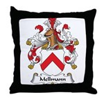 Mellmann Family Crest Throw Pillow
