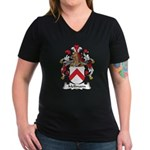 Mellmann Family Crest Women's V-Neck Dark T-Shirt