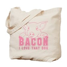 Bacon - Pink Imprint Tote Bag