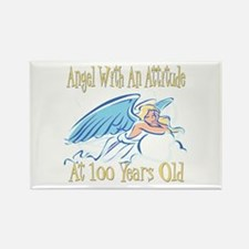 Angel Attitude 100th Rectangle Magnet