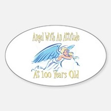 Angel Attitude 100th Oval Decal