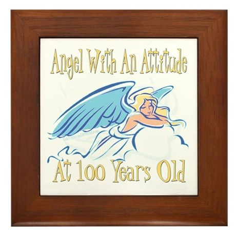 Angel Attitude 100th Framed Tile