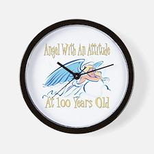 Angel Attitude 100th Wall Clock