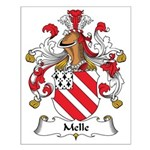 Melle Family Crest Small Poster