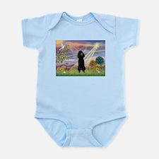 Cloud Angel Black Poodle Infant Bodysuit