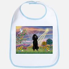 Cloud Angel Black Poodle Bib