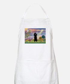 Cloud Angel Black Poodle BBQ Apron