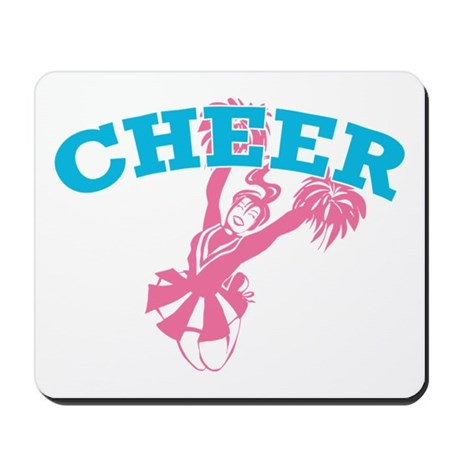 Pink and Blue Cheer Mousepad