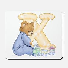 Teddy Alphabet X Yellow Mousepad