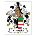 Meinecke Family Crest Small Poster