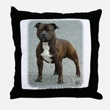 Staffordshire Bull Terrier 9F23-12 Throw Pillow