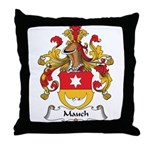 Mauch Family Crest Throw Pillow