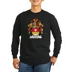 Mauch Family Crest Long Sleeve Dark T-Shirt