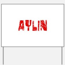 Aylin Faded (Red) Yard Sign