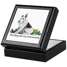 Fox Terrier Dog Homework! Keepsake Box