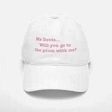 Ms Davis Quote - Pink Baseball Baseball Cap