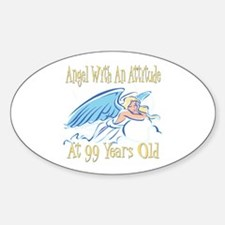 Angel Attitude 99th Oval Decal