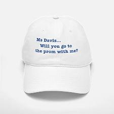 Ms Davis Quote - Blue Baseball Baseball Cap