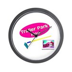 Trailer Park Hoe Wall Clock