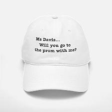 Ms Davis Quote - BW Baseball Baseball Cap