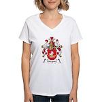 Marquart Family Crest Women's V-Neck T-Shirt