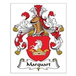 Marquart Family Crest Small Poster