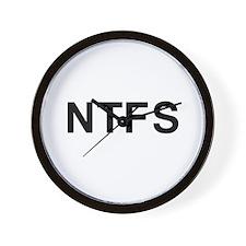 Tech Term -- NTFS - T-shirts  Wall Clock