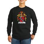 Manger Family Crest Long Sleeve Dark T-Shirt