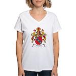 Manger Family Crest Women's V-Neck T-Shirt