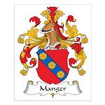 Manger Family Crest Small Poster