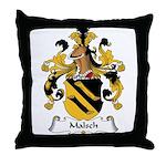 Malsch Family Crest Throw Pillow