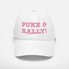 Puke & Rally Quote - Pink Imp Baseball Baseball Cap