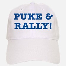 Puke & rally Quote - Blue Baseball Baseball Cap