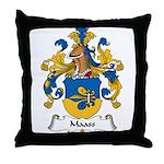 Maass Family Crest Throw Pillow