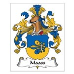Maass Family Crest Small Poster