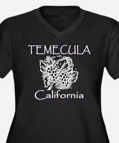 Temecula Grapes Women's Plus Size V-Neck Dark T-Sh