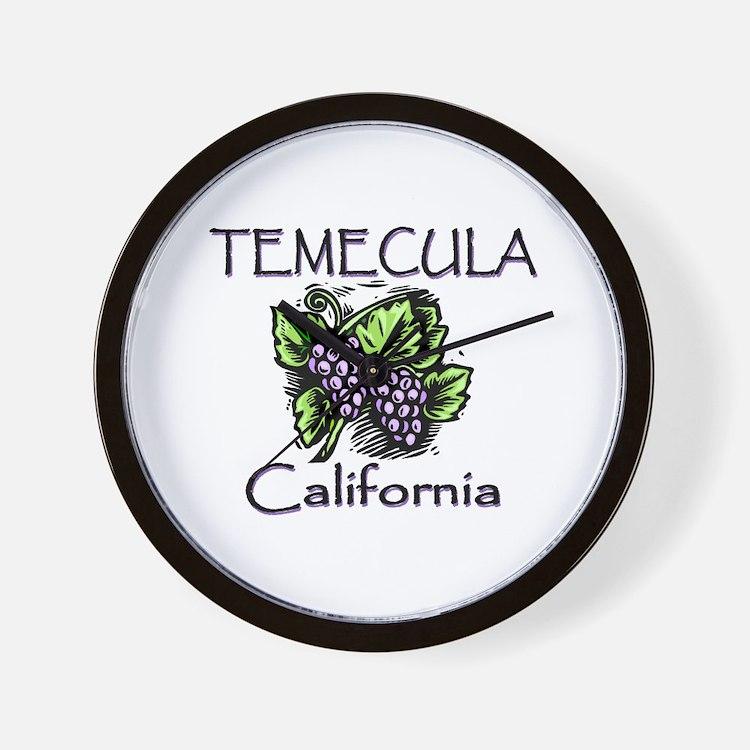 Temecula Grapes Wall Clock