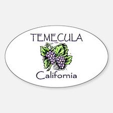 Temecula Grapes Sticker (Oval)