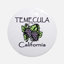 Temecula Grapes Ornament (Round)