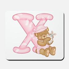 Teddy Alphabet X Pink Mousepad